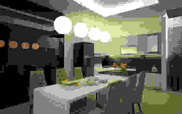 Rumah Tinggal Greenlake Ruang Makan Modern Oleh Elora Desain Modern