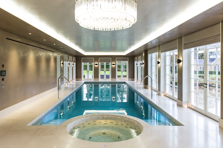 Luxury basement pool and integrated spa โดย London Swimming Pool Company โมเดิร์น คอนกรีต