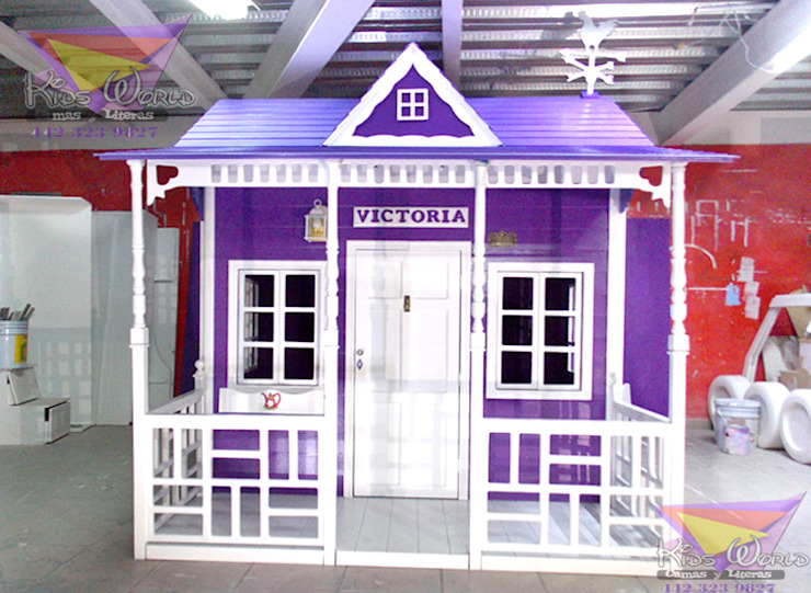 ´Preciosa casita celestial en purpura de camas y literas infantiles kids world Clásico Derivados de madera Transparente