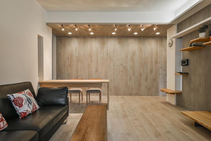 一方整然 现代客厅設計點子、靈感 & 圖片 根據 王采元工作室 現代風
