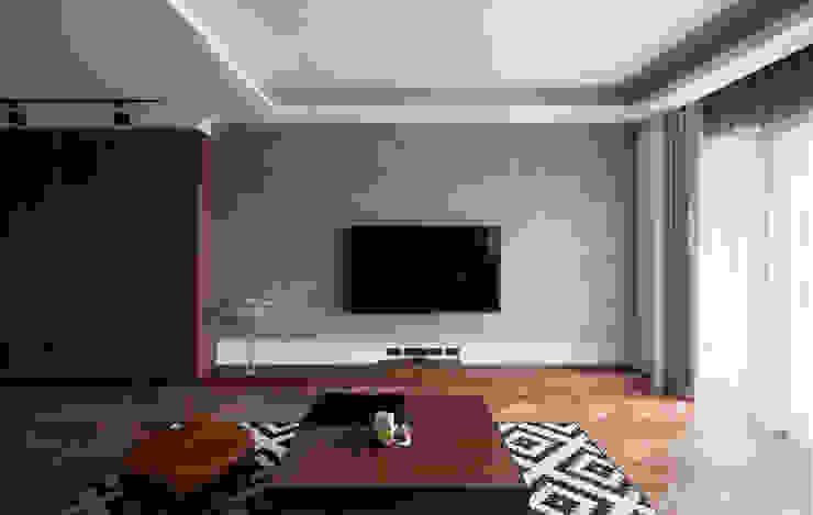 客廳電視牆 by 邑田空間設計 Classic Concrete