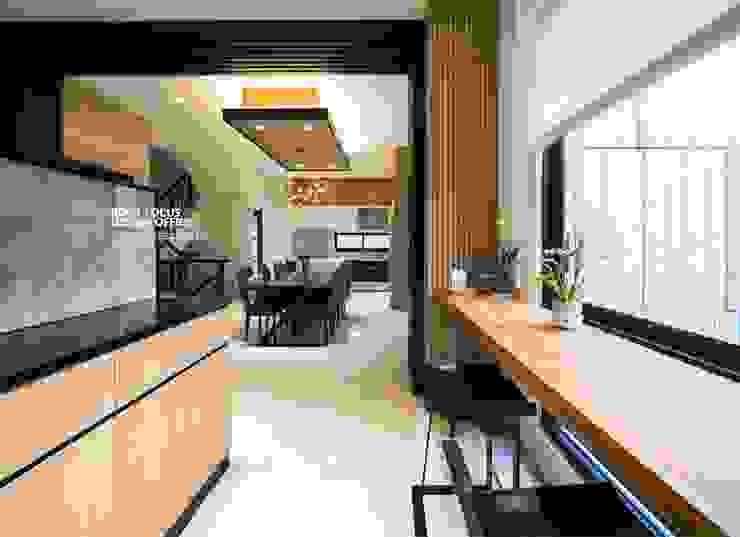 竹韻 亞洲風玄關、階梯與走廊 根據 築本國際設計有限公司 日式風、東方風