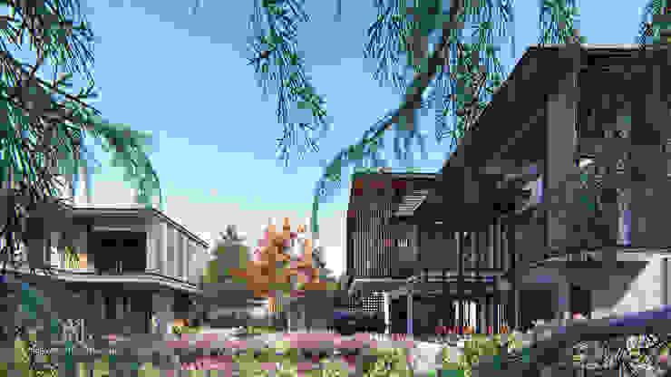 Tropical Style โดย GRID ARCHITECT THAILAND ทรอปิคอล ไม้จริง Multicolored