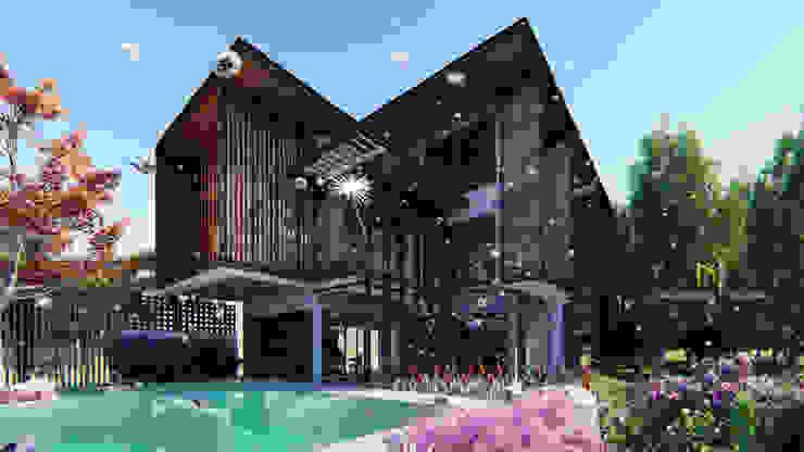 Tropical Style โดย GRID ARCHITECT THAILAND ทรอปิคอล คอนกรีต