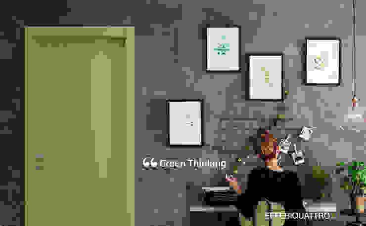 Effebiquattro S.p.A. Puertas modernas Madera Verde