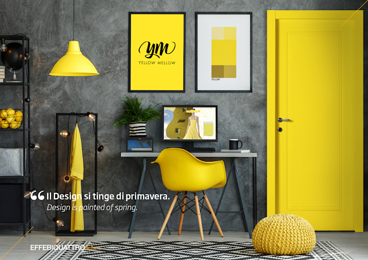 Effebiquattro S.p.A. Wooden doors Wood Yellow