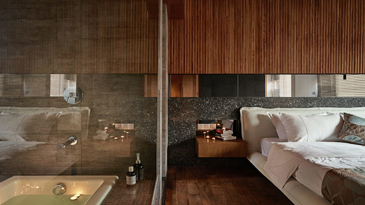 Bathroom by 大湖森林室內設計