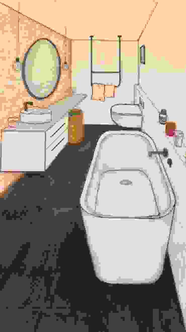 Industriële badkamer schets Industriële badkamers van Studio Room by Room Industrieel