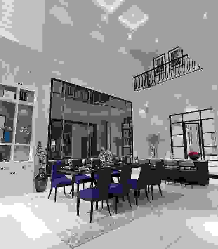 Ruang makan Ruang Makan Gaya Country Oleh Lighthouse Architect Indonesia Country