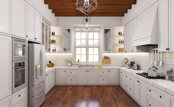 Country style kitchen by Lighthouse Architect Indonesia Country