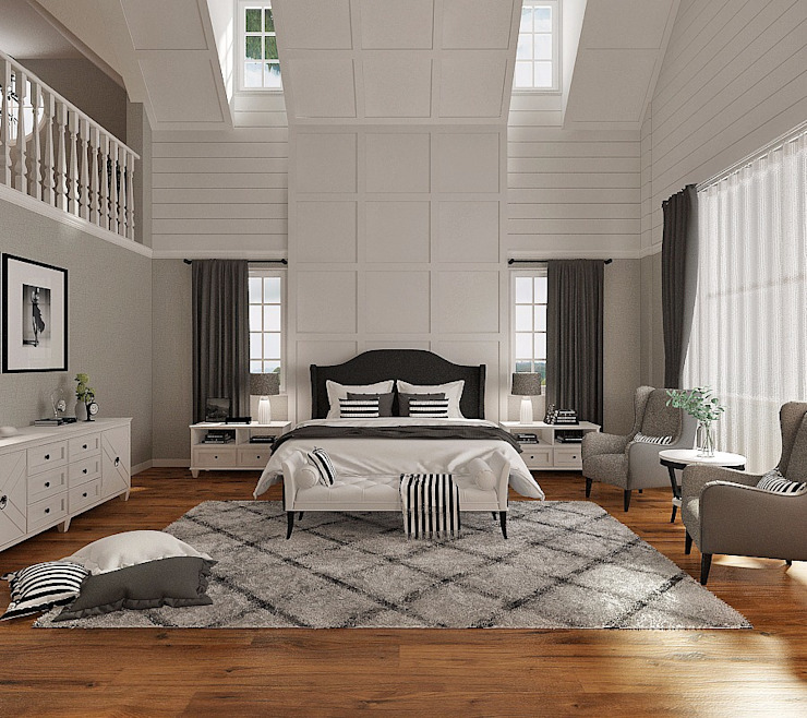 Master room Kamar Tidur Gaya Country Oleh Lighthouse Architect Indonesia Country
