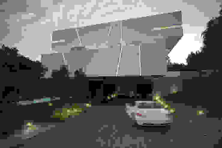 Vista Lateral Casas minimalistas de 21arquitectos Minimalista