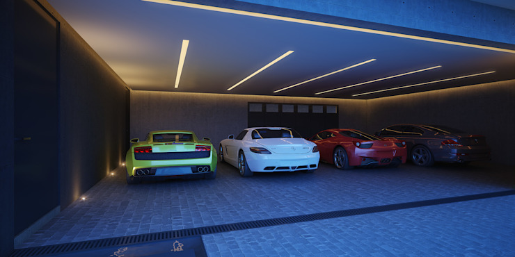 Vista Estacionamiento Garajes minimalistas de 21arquitectos Minimalista