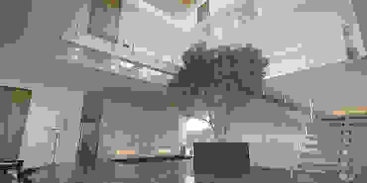 Vista Vestíbulo Principal Pasillos, vestíbulos y escaleras minimalistas de 21arquitectos Minimalista
