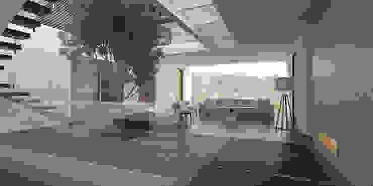 Vista Vestíbulo 2 Pasillos, vestíbulos y escaleras minimalistas de 21arquitectos Minimalista