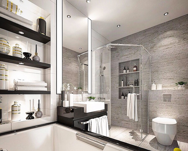Bathroom by Lighthouse Architect Indonesia, Modern