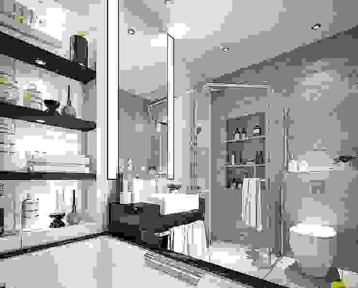 Casas de banho modernas por Lighthouse Architect Indonesia Moderno