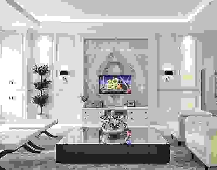 FT house polonia Ruang Keluarga Klasik Oleh Lighthouse Architect Indonesia Klasik
