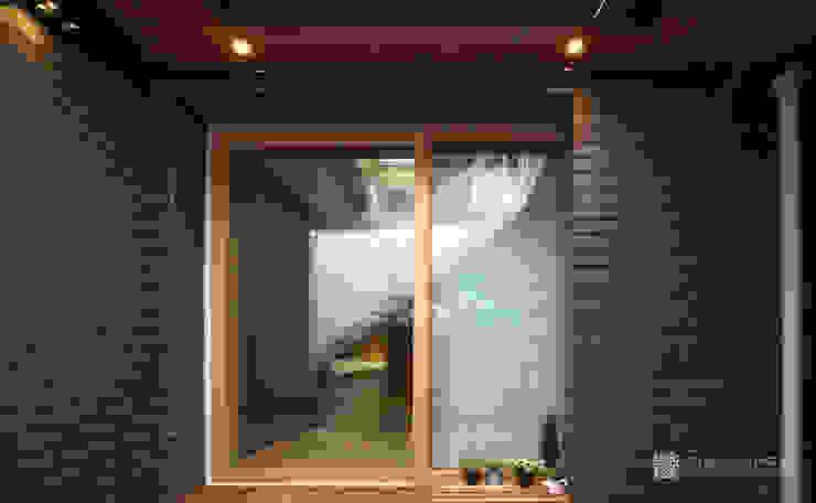 누하동 주택 리모델링 주식회사 착한공간연구소 아시아스타일 발코니, 베란다 & 테라스
