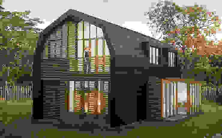 Duurzame houten villa Amsterdam-Noord Moderne huizen van Puurbouwen Modern