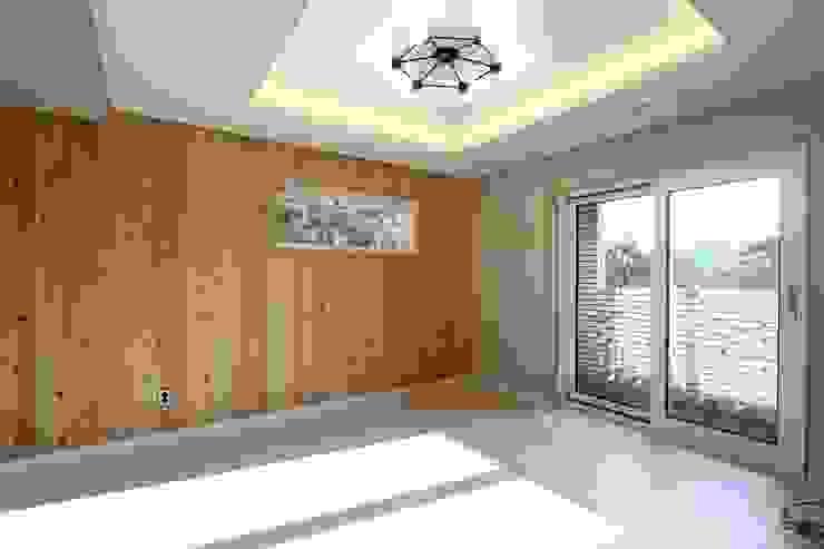 침실, 자연과 함께 컨트리스타일 침실 by (주)디엘건축 컨트리