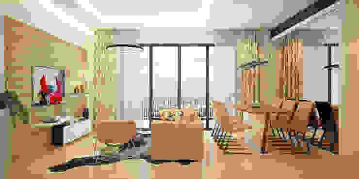 Thông tin chi tiết về dự án thiết kế căn hộ chị Hạnh Ehome S quận 9: hiện đại  by TNHH xây dựng và thiết kế nội thất AN PHÚ CONs 0911.120.739, Hiện đại
