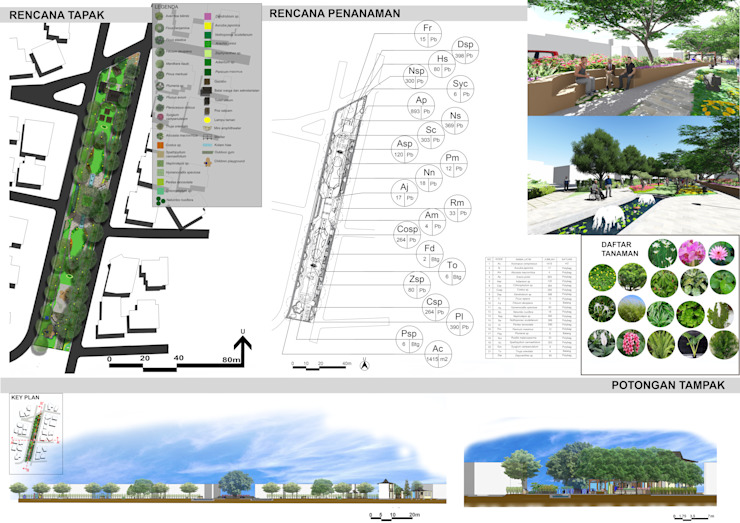 DESAIN TAMAN LINGKUNGAN PERUM VILLA CINERE MAS Oleh 1mm studio | Landscape Design Modern
