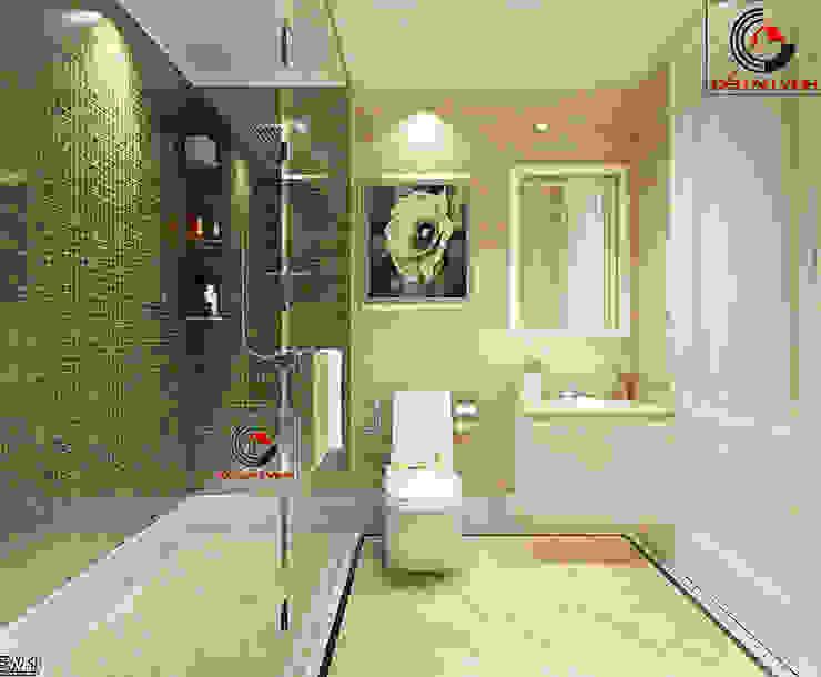 Thiet Ke Biet Thu Tret 200m2 Phong Cach Mai Thai Dep Phòng tắm phong cách hiện đại bởi Cong ty thiet ke nha biet thu dep Kien An Vinh Hiện đại