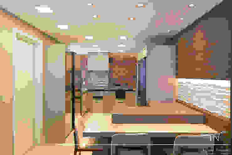 cozinha gourmet Taciana Nakalski arquitetura e interiores Cozinhas embutidas Pedra Bege