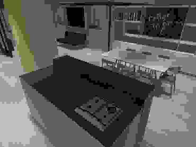 interior cocina americana Cocinas de estilo minimalista de ATELIER3 Minimalista Pizarra