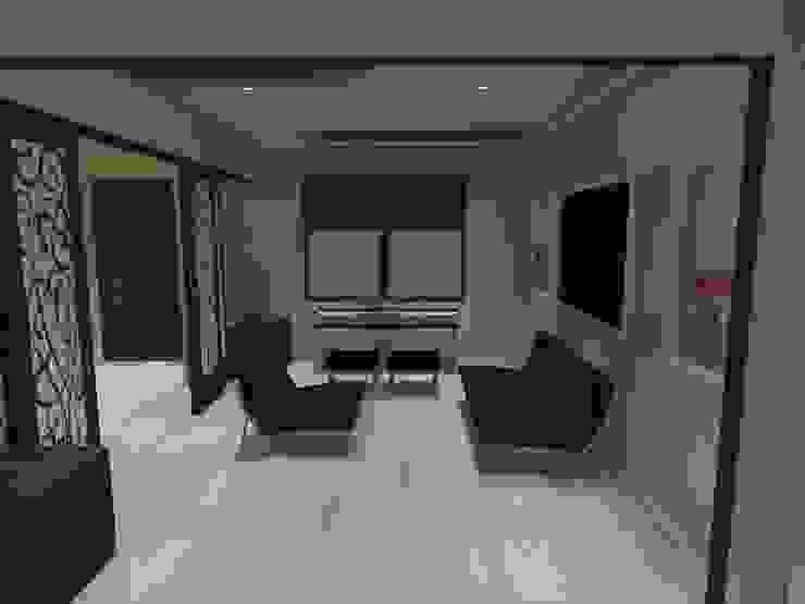 estar Estudios y bibliotecas de estilo minimalista de ATELIER3 Minimalista Bambú Verde