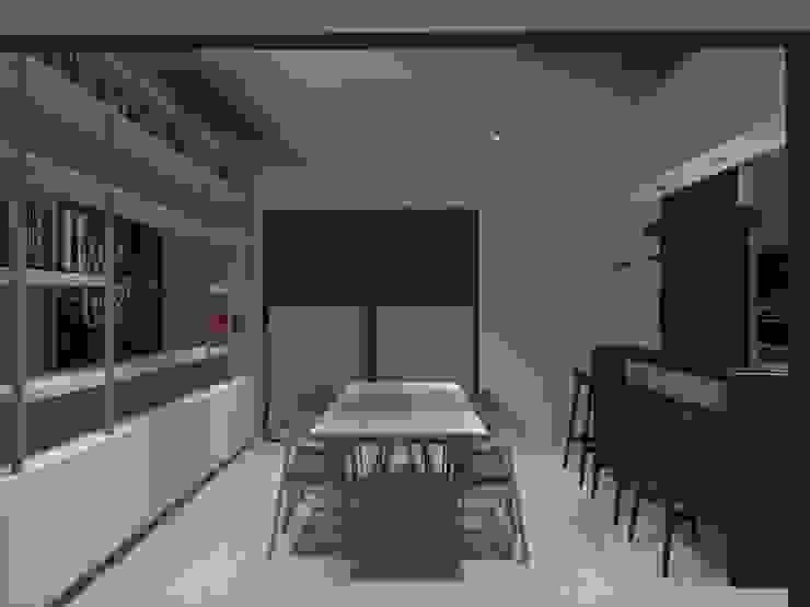 comedor Comedores de estilo minimalista de ATELIER3 Minimalista Bambú Verde