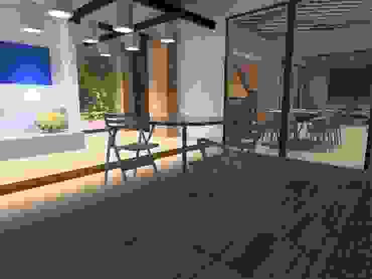 terraza de ATELIER3 Minimalista Madera Acabado en madera