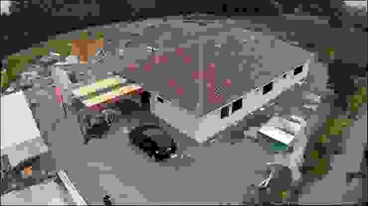 vista dron Casas de estilo rural de ATELIER3 Rural