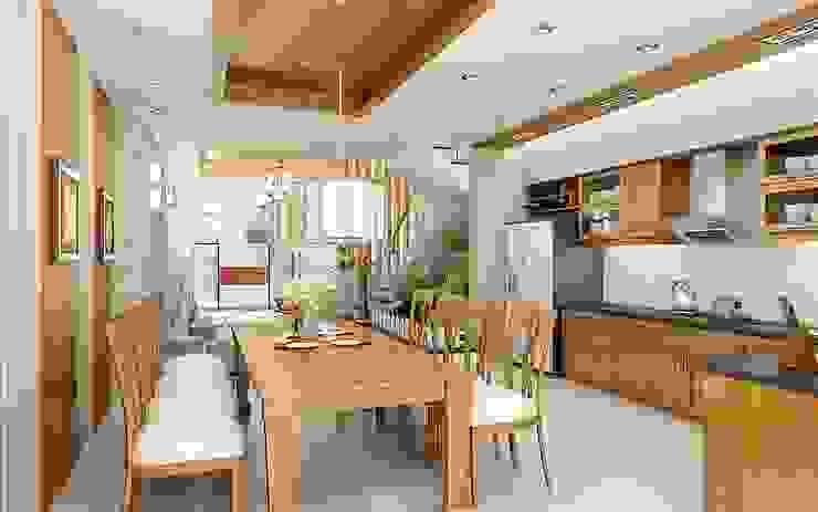 Biệt thự 2 tầng với phong cách hiện đại đẹp: hiện đại  by Việt Architect Group , Hiện đại