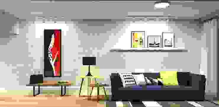 Salas de estilo ecléctico de LVM Arquitetura Ecléctico