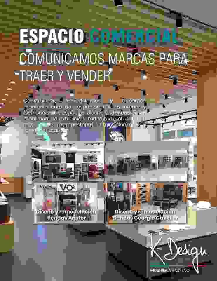 Diseño y remodelación de espacios corporativos de .K-Design arquitectura y diseño interior