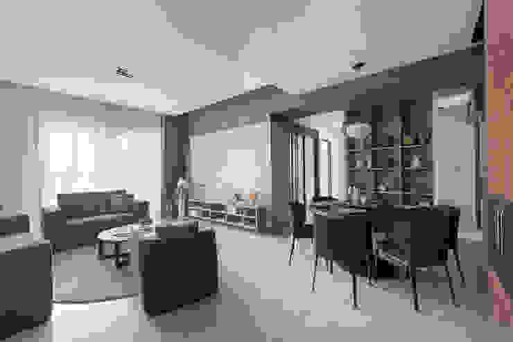 節理:  客廳 by 寬宸室內設計有限公司, 現代風