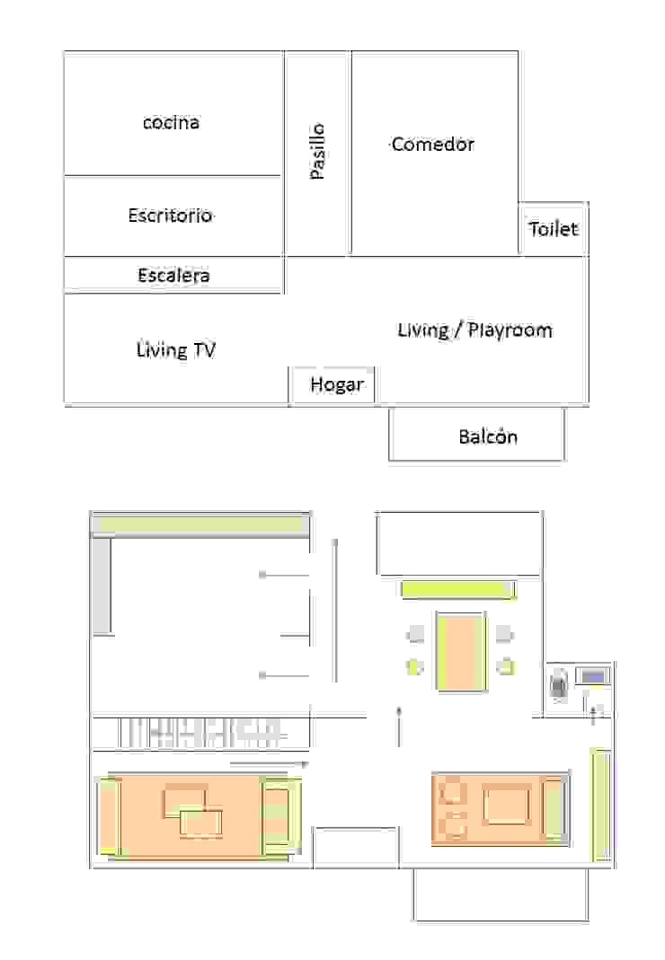 Redistribución Ambientes y Circulación Pasillos, vestíbulos y escaleras escandinavos de OOST / Sabrina Gillio Escandinavo