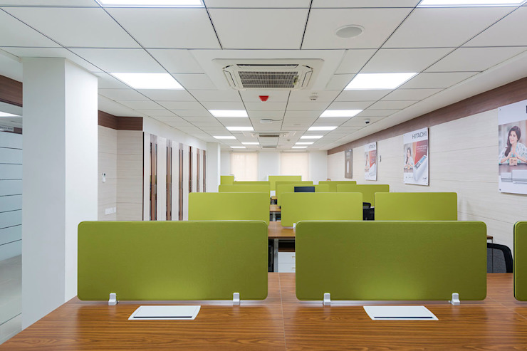 Office Space: modern  by Elcon Infrastructure, Modern Plywood