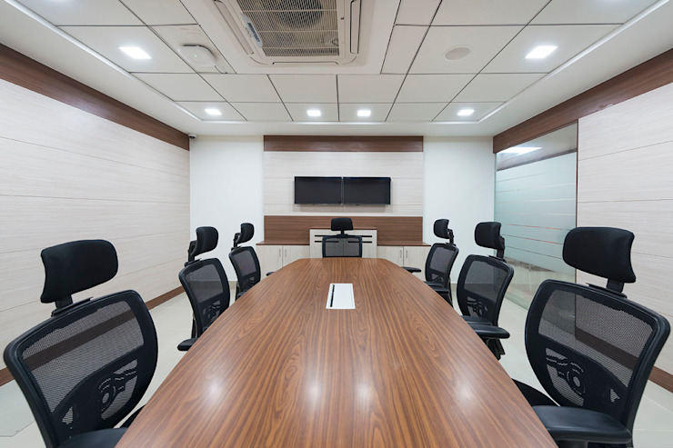 conference room: modern  by Elcon Infrastructure, Modern Plywood