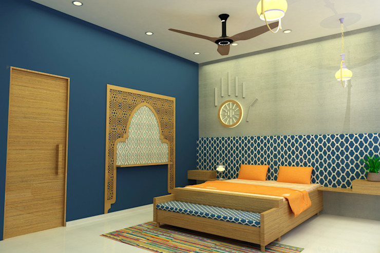 INTERIOR 7 BHK Asian style bedroom by PAHENJO Asian