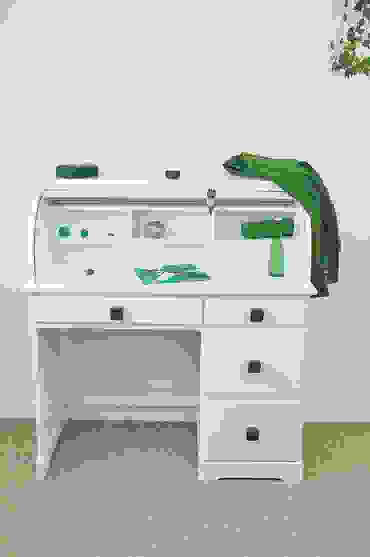 Ceramics handles - Cube - colour emerald green glossy glaze Viola Ceramics Studio CasaAccessori & Decorazioni Ceramica Verde