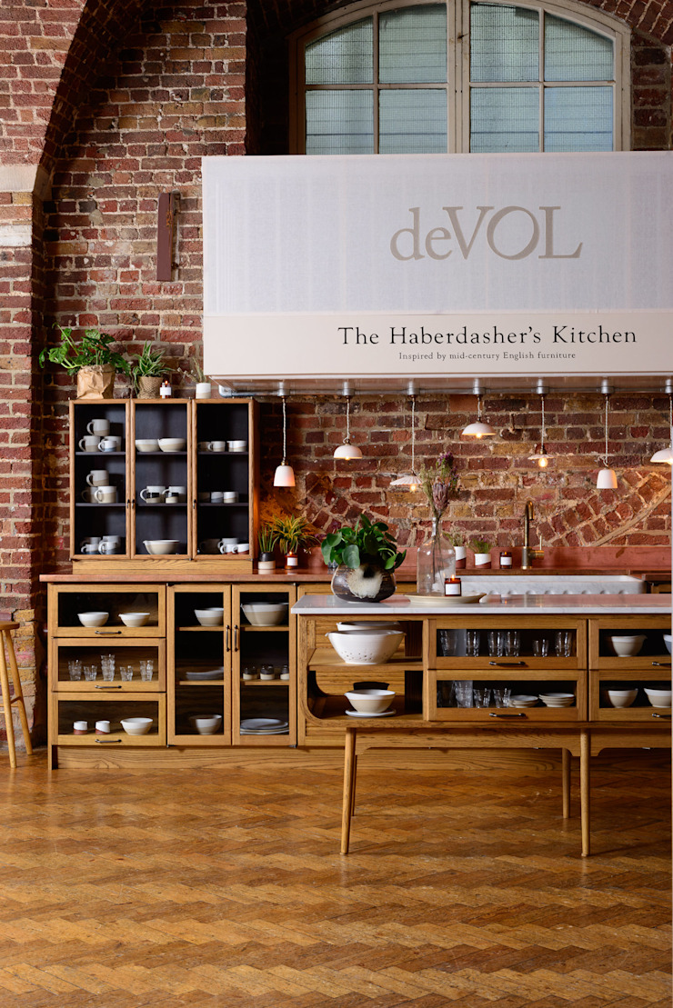 The Haberdasher's Kitchen by deVOL by deVOL Kitchens Classic Solid Wood Multicolored