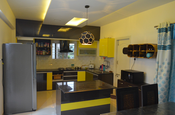 CONTEMPORARY & ELEGANT FLAT Modern kitchen by Vdezin Interiors Modern