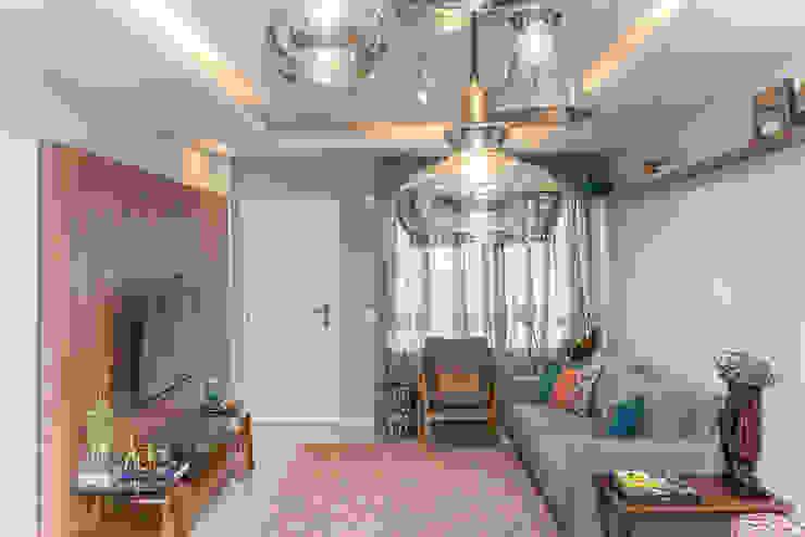 Sala de Estar e Jantar Salas de estar modernas por Erlon Tessari Arquitetura e Design de Interiores Moderno