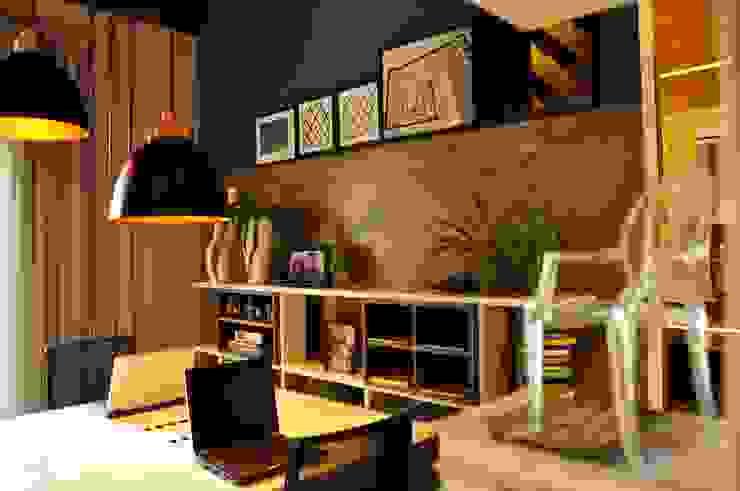 Erlon Tessari Arquitetura e Design de Interiores Ruang Studi/Kantor Modern