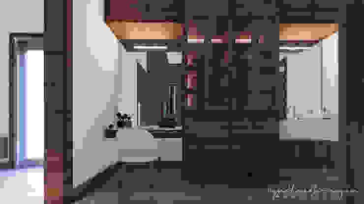 Vestidores modernos de Cynthia Barragán Arquitecta Moderno Madera Acabado en madera