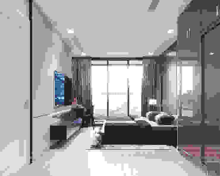 Căn hộ phong cách hiện đại: Không gian sống hoàn hảo cho gia đình bận rộn! Phòng ngủ phong cách hiện đại bởi ICON INTERIOR Hiện đại
