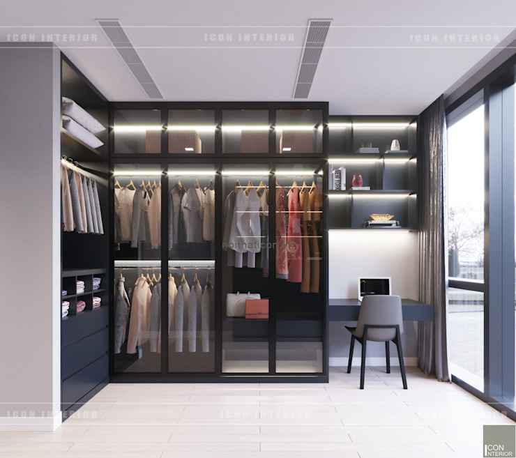 Dressing room by ICON INTERIOR, Modern